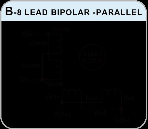 Wiring Diagrams of b-8 lead bipolar drive