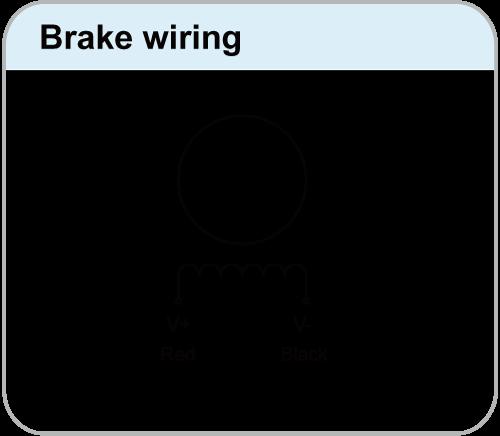 brake wire of A-4 lead bipolar drive