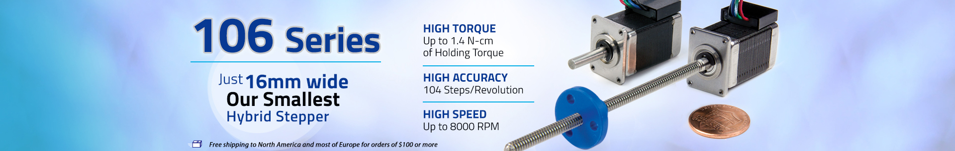 106 Series Hybrid Stepper Motor