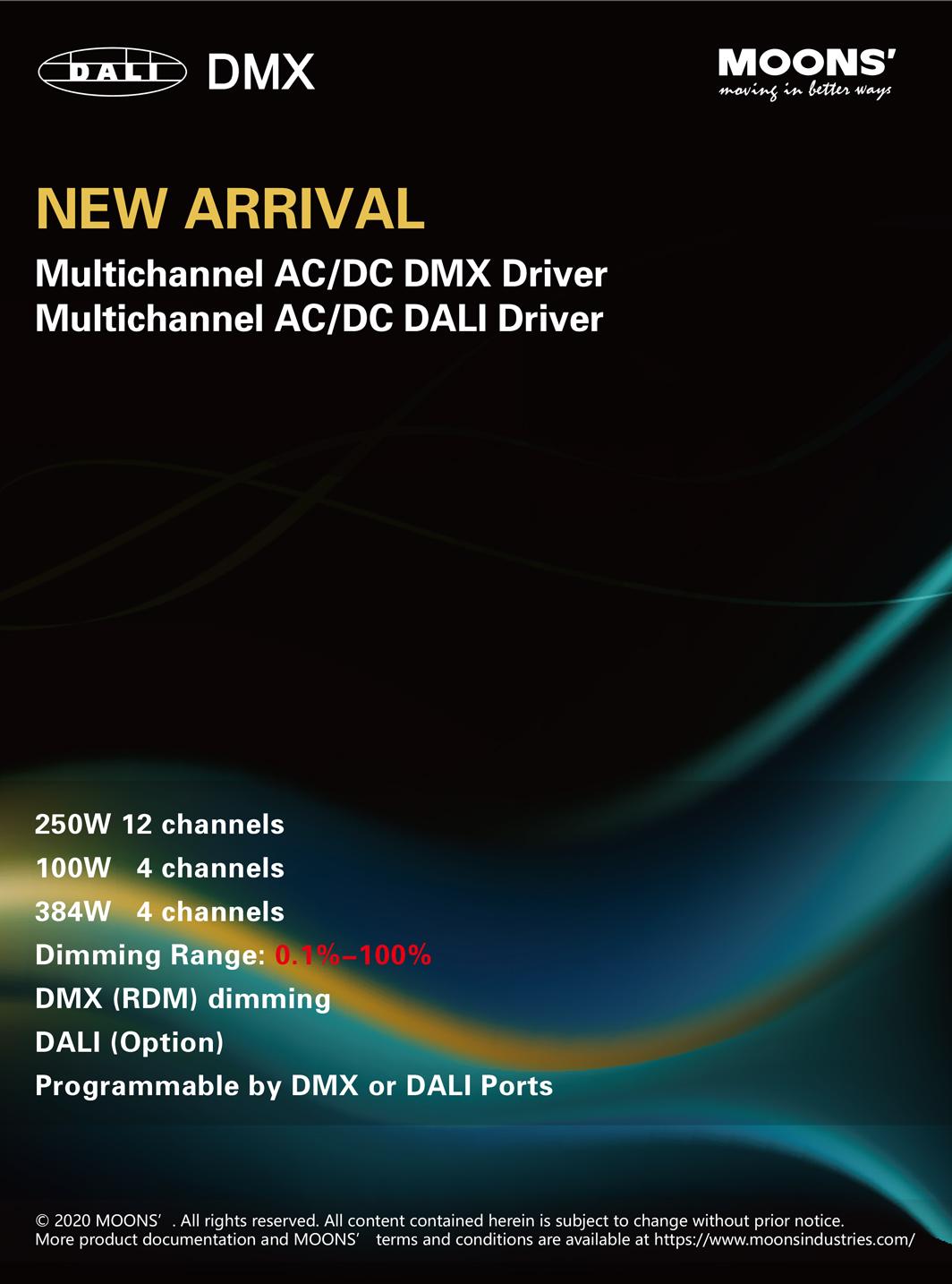 Multichannel AC/DC DMX Driver Multichannel AC/DC DALI Driver