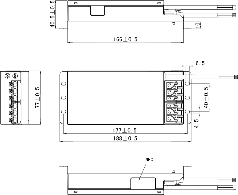 50W 2 Ch DALI / PWM, DMX Intelligent LED Driver