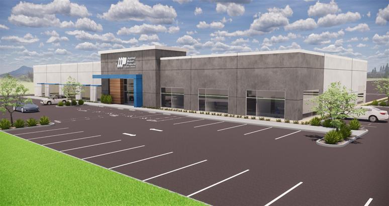 カリフォルニア州モーガンヒルにあるAMPの新本社の完成イメージ