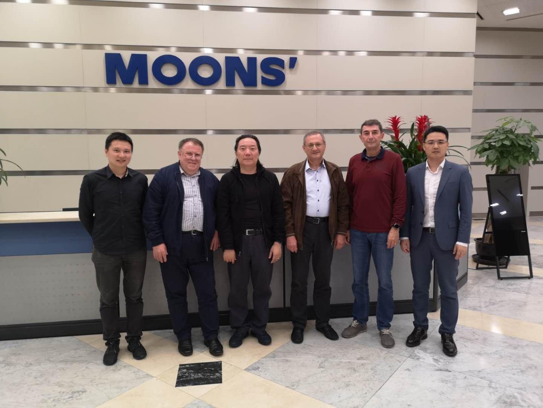 Technosoft 経営陣 MOONS' 本部を訪問