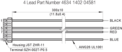 The harness drawing of NEMA14 Ball Screw Linear stepper Motors