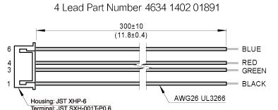 The harness drawing of NEMA23 Ball Screw Linear stepper Motors
