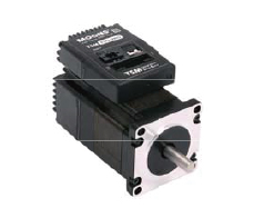 Integrated stepper motor with driver and controller